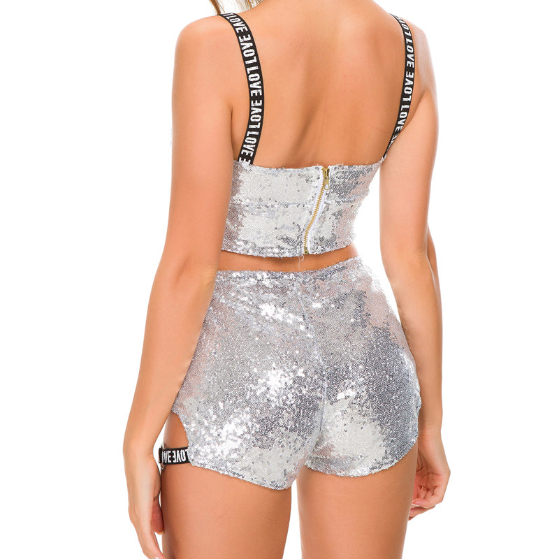 Holographic Sequin Shorts (4 variants) - MyLittleRave.com