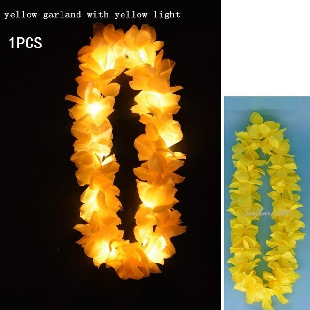 LED Hawaii Flowers #CreativeProps - MyLittleRave.com