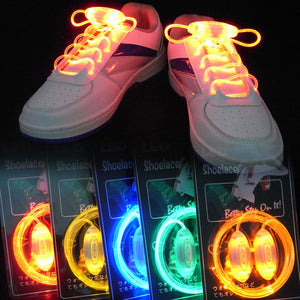 Colorful LED Flash Light Up Shoe Laces #CreativeProps - MyLittleRave.com