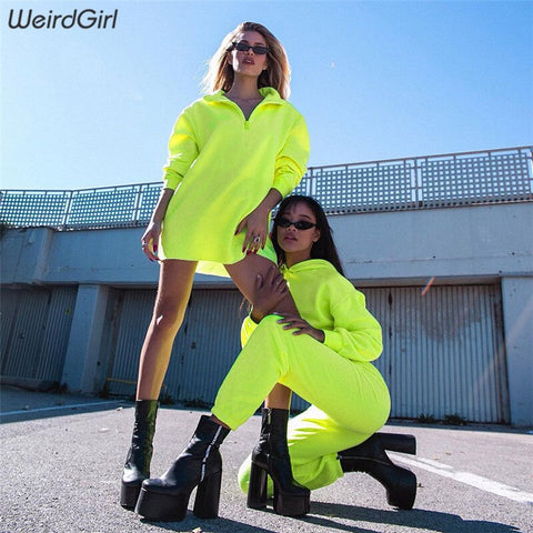 Casual Long Sleeve Neon Dress - MyLittleRave.com
