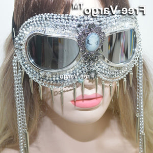Holographic Rave Streampunk Goggles - MyLittleRave.com