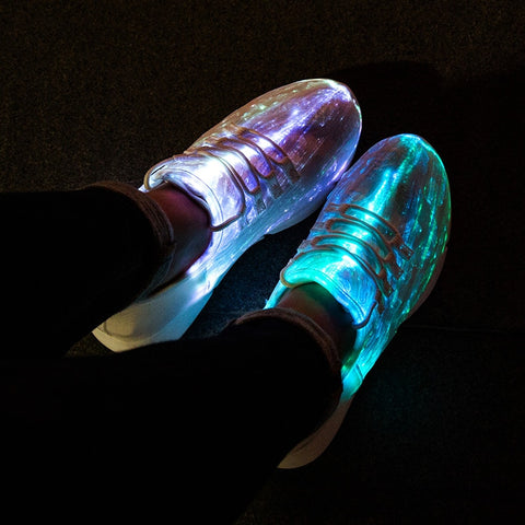 USB Recharge Glowing Sneakers #CreativeProps (3 colours) - MyLittleRave.com