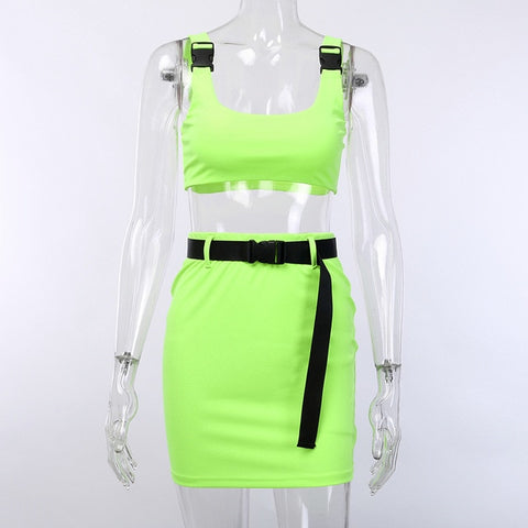 Summer Neon Set with Belt (5 colours) - MyLittleRave.com