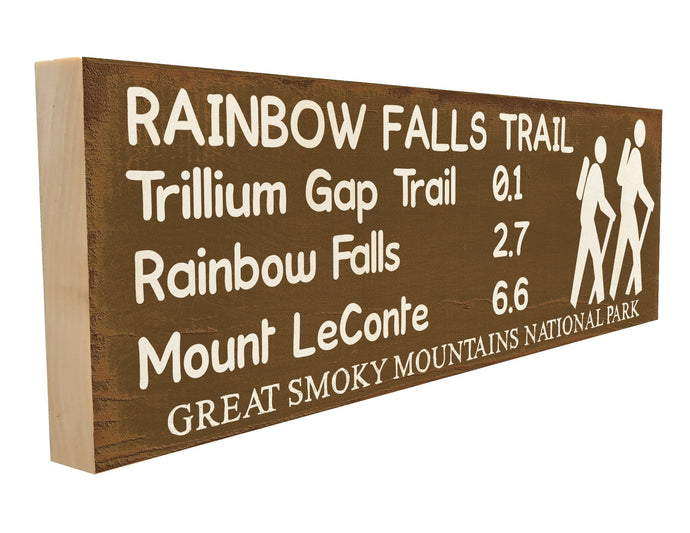 Rainbow Falls Trail. Trillium Gap Trail 0.1 Rainbow Falls 2.7 Mount LeConte 6.6 Great Smoky Mountains National Park.