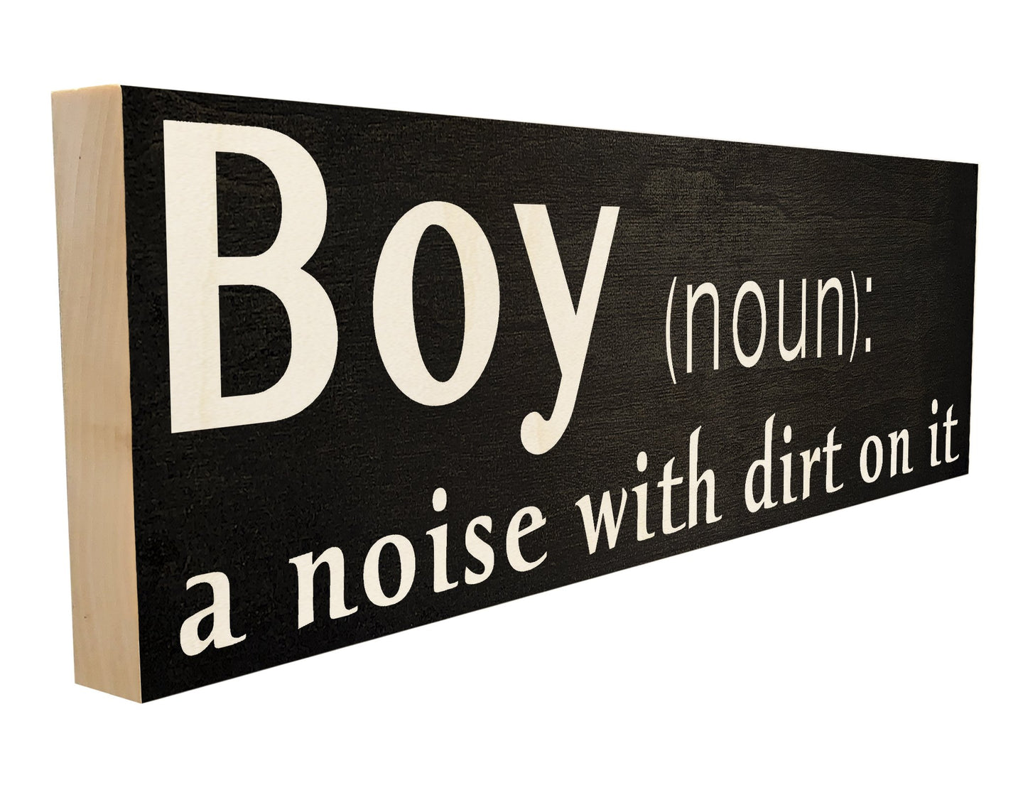 Boy. A Noise with Dirt on it.