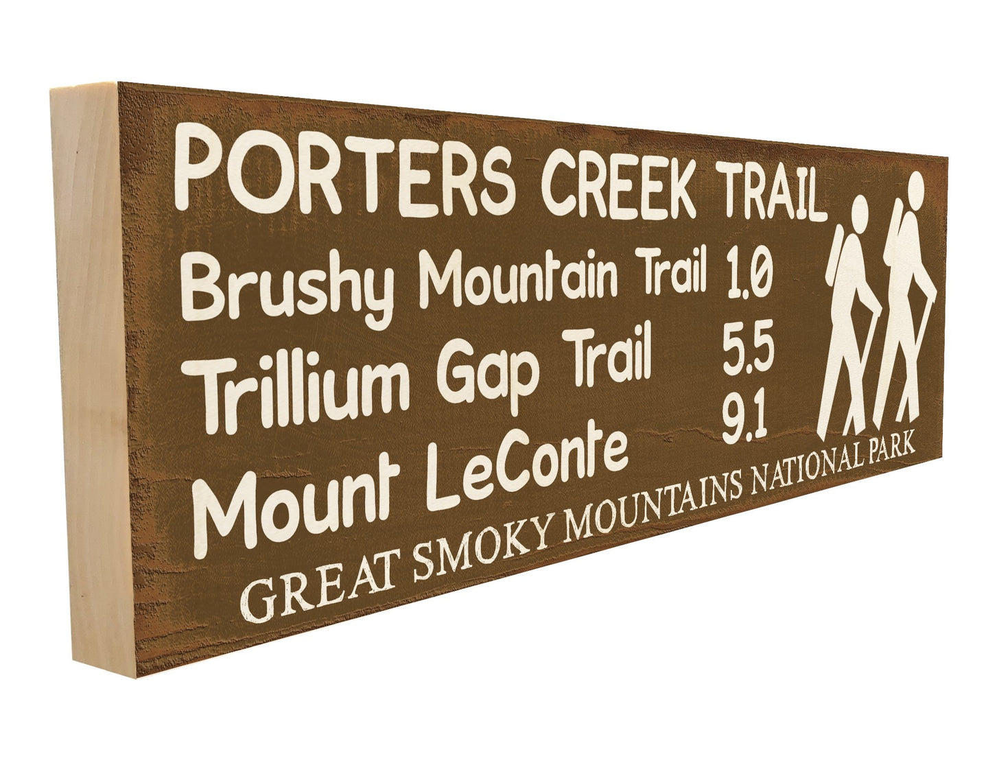 Porters Creek Trail. Brushy Mountain Trail 1.0 Trillium Gap Trail 5.5 Mount LeConte 9.1 Great Smoky Mountains National Park.
