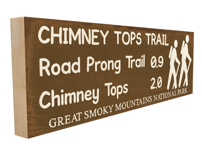 Chimney Tops Trail. Road Prong Trail .09 Chimney Tops 2.0 Great Smoky Mountains National Park.
