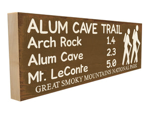 Alum Cave Trail. Arch Rock 1.4 Alum Cave 2.3 Mt. LeConte 5.0 Great Smoky Mountains National Park.