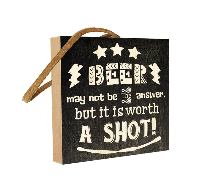 Beer May Not Be The Answer But Its Worth a Shot.