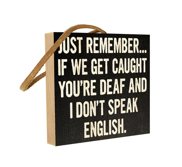 Just Remember… If We Get Caught You're Deaf and I don't Speak English.