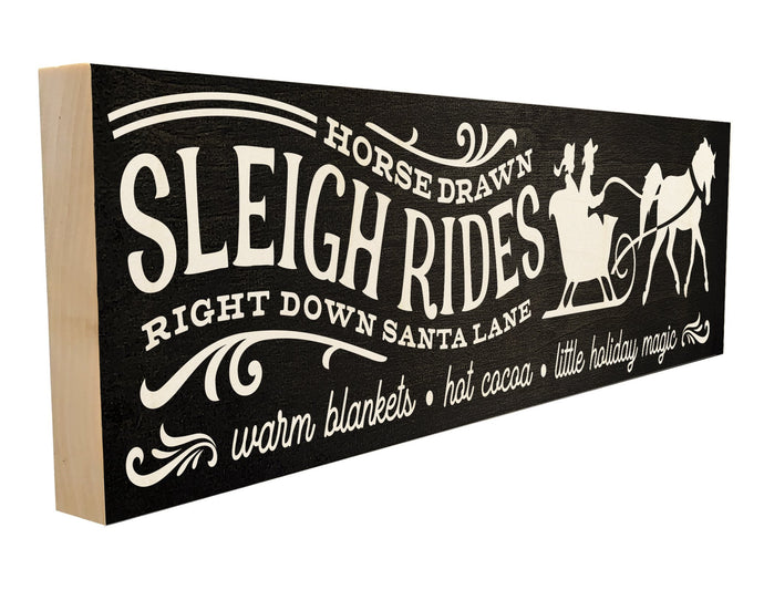 Horsedrawn Sleigh Rides. Right Down Santa Lane. Warm Blankets. Hot Cocoa. Little Holiday Magic.