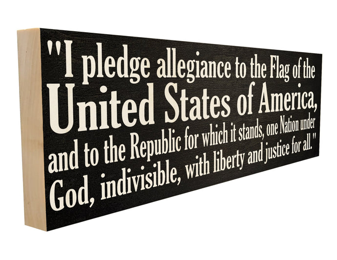 I pledge allegiance to the Flag of the United States of America, and to the Republic for which it stands, one Nation under God, indivisible, with liberty and justice for all.