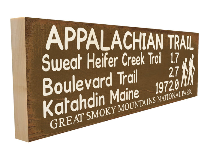 Appalachian Trail. Sweat Heifer Trail 1.7 Boulevard Trail 2.7 Katahdin Maine 1972. Great Smoky Mountains National Park.