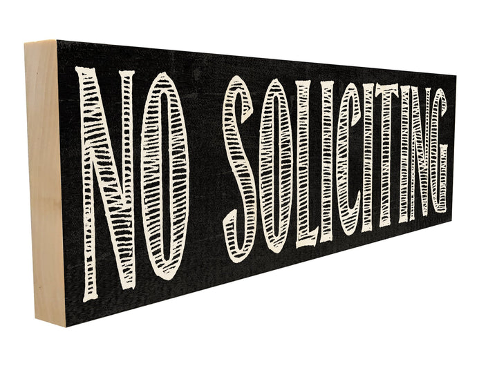 No Soliciting.
