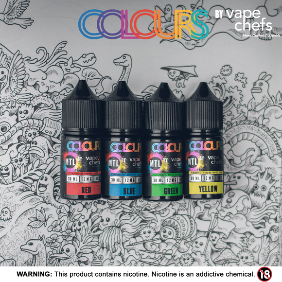 Vape Chefs Colours Yellow MTL 30Ml