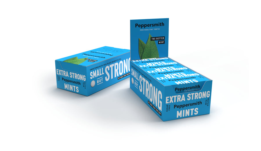 Extra Strong Eucalyptus Xylitol Mints - 12 x 15g Pocket Packs