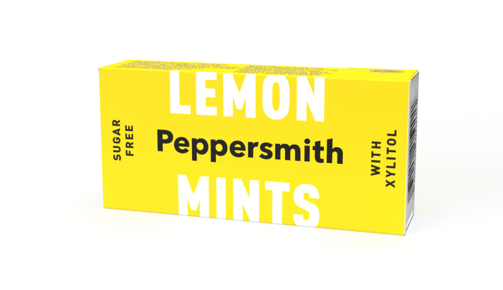 Sicilian Lemon Flavour Xylitol Mints: 12 x 15g Pocket Packs