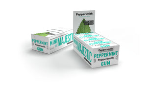 English Peppermint Xylitol Gum: 12 x 15g Pocket Packs