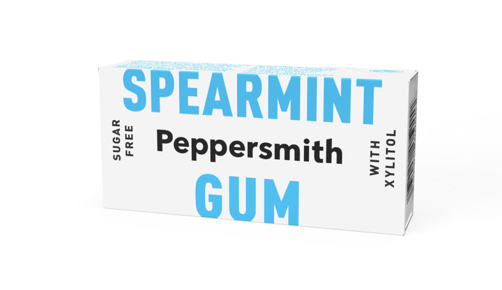 English Spearmint Xylitol Gum - 12 x 15g Pocket Packs