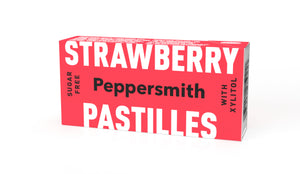 Strawberry & Vanilla Xylitol Pastilles: 12 x 15g Pocket Packs