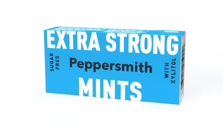 Extra Strong Eucalyptus Xylitol Mints: 12 x 15g Pocket Packs