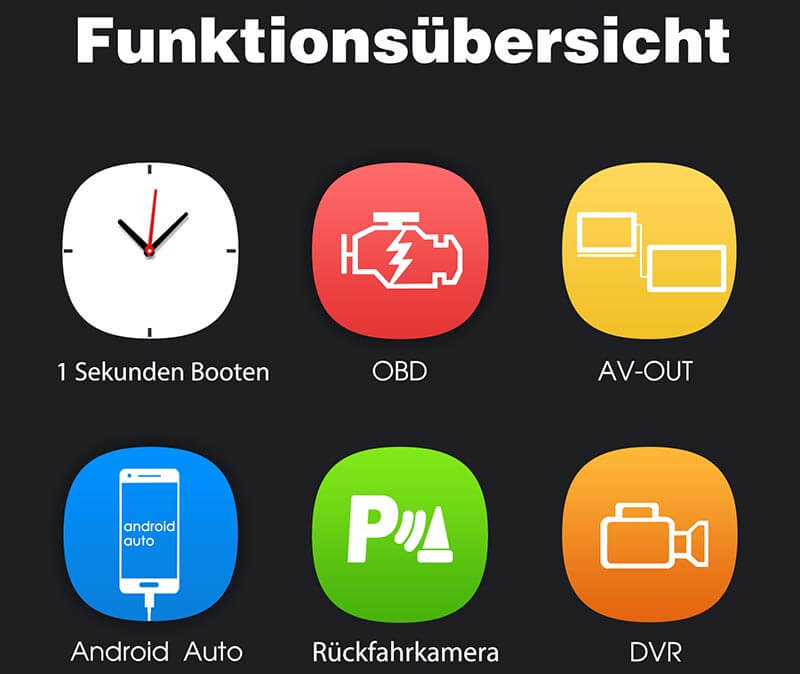 "7 ""Touchscreen Octa Core Android 8.0 Autoradio für Audi A3-Serie Auto Audio und Video mit RAM: 4 GB / ROM: 32 GB"
