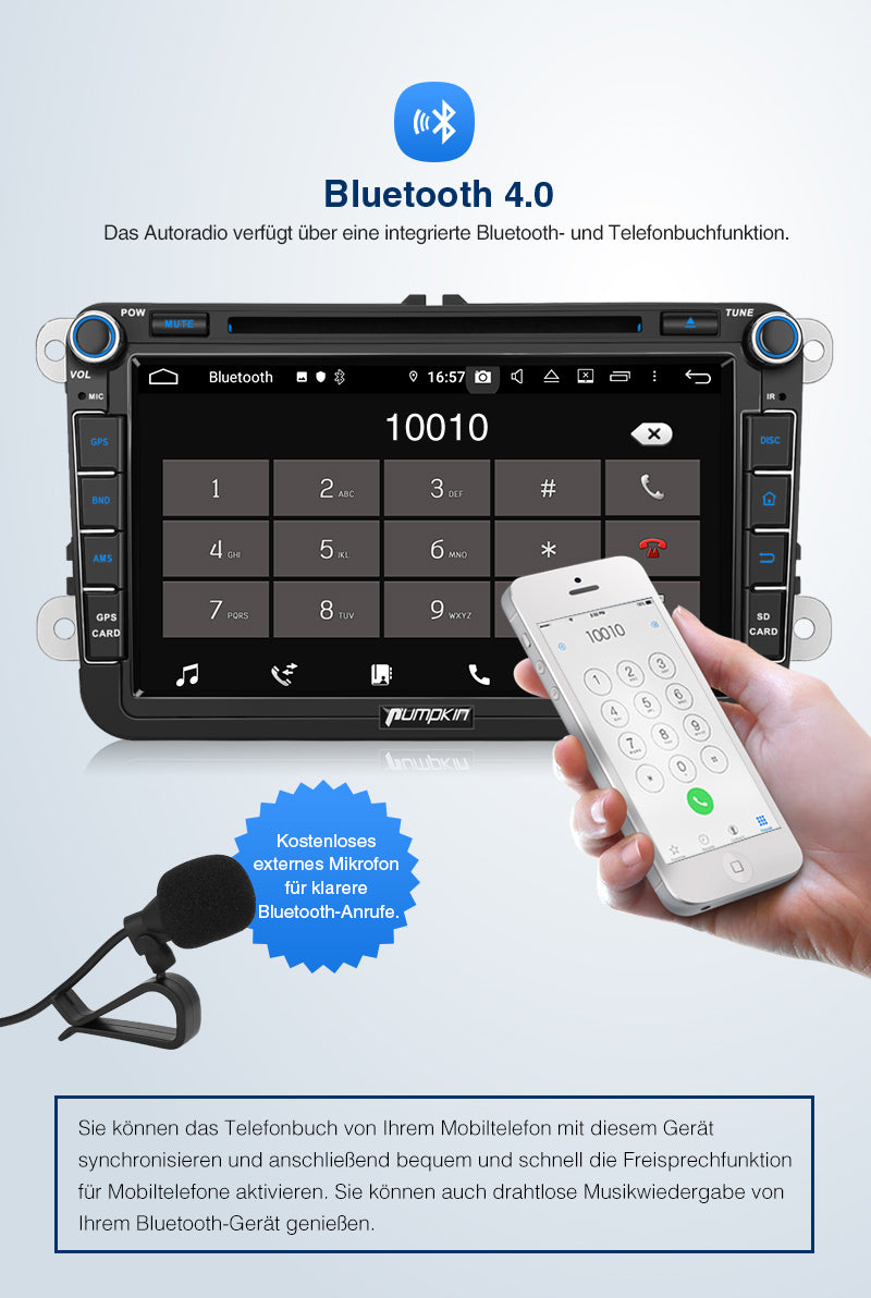 VW android 9.0 Bluetooth radio