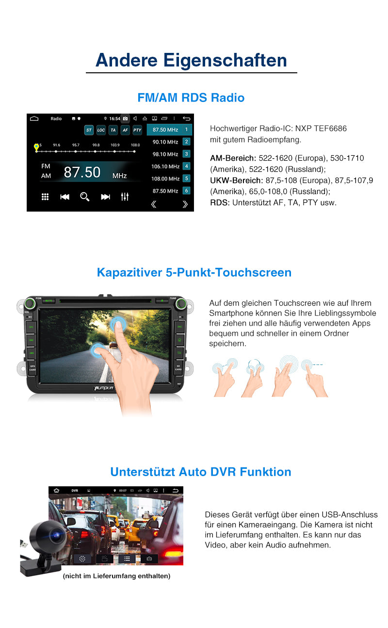 VW golf touch screen radio android