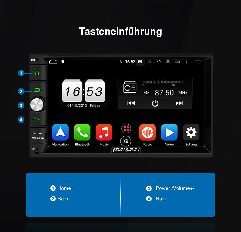 2 din Autoradio mit Bluetooth