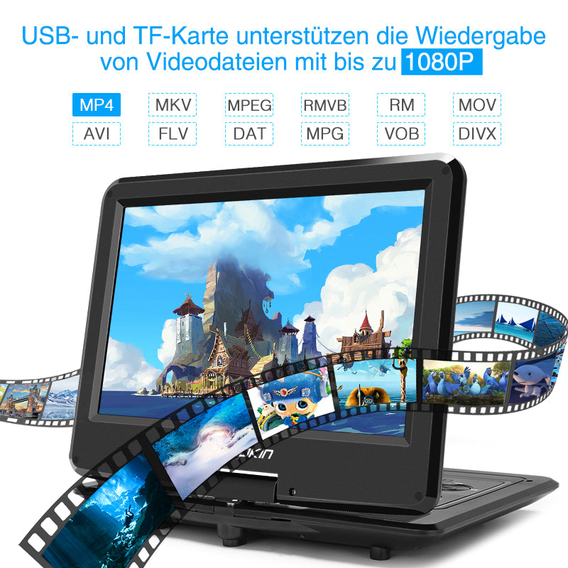 tragbarer dvd player mit usb