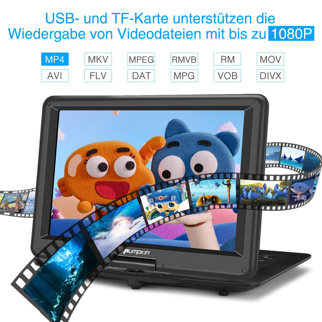 tragbarer dvd player mit usb sd slot