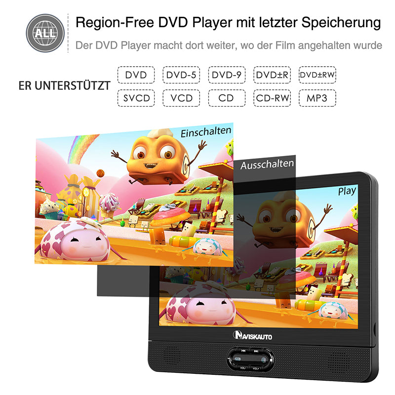 tragbarer dvd player kinder