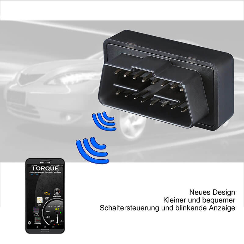 OBD2 Scanner Verbesserter OBDII Professioneller Bluetooth Auto Code Reader für iPhone, iPad & Android