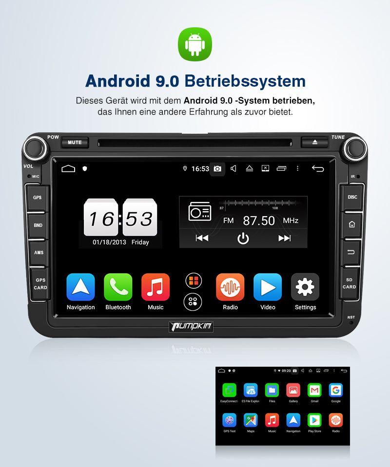 vw Caddy android 9.0 radio