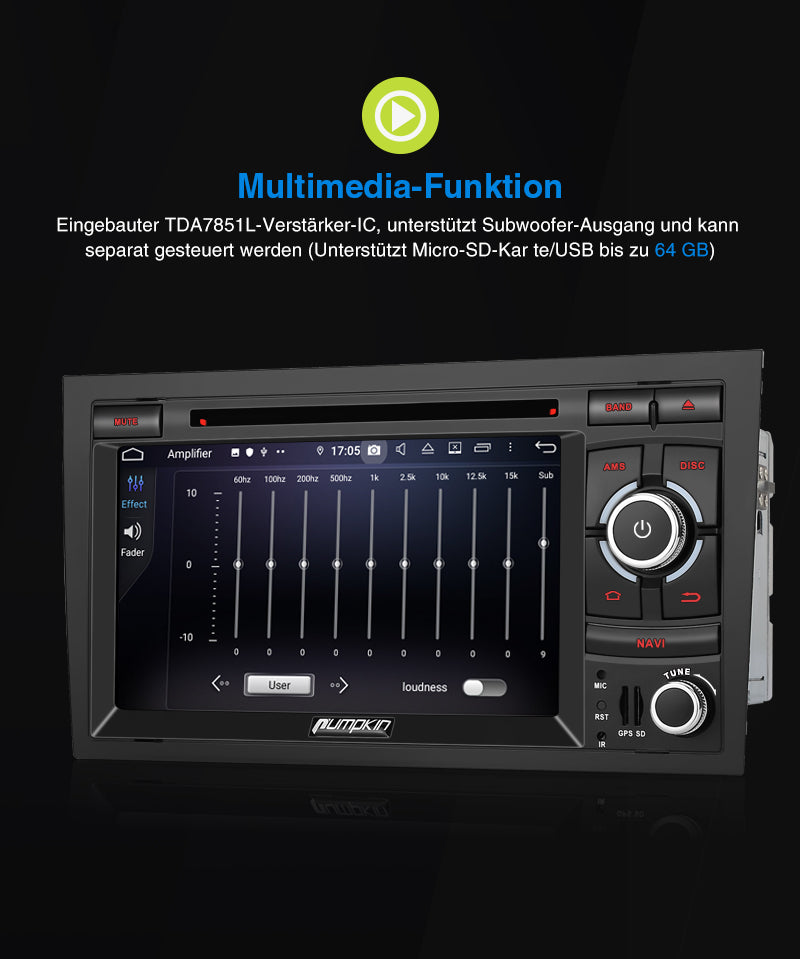 multifuktion audi a4 autoradio
