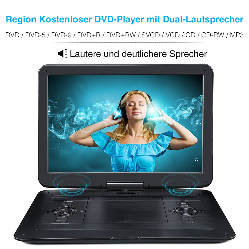 transportabler dvd player