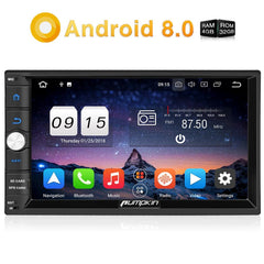 Pumpkin Bluetooth Car Stereo Android 8.0 Universal Car Radio Double Din 7 Inch Touchscreen Octa-Core with GPS Navi Bluetooth RAM: 4GB+ROM: 32GB
