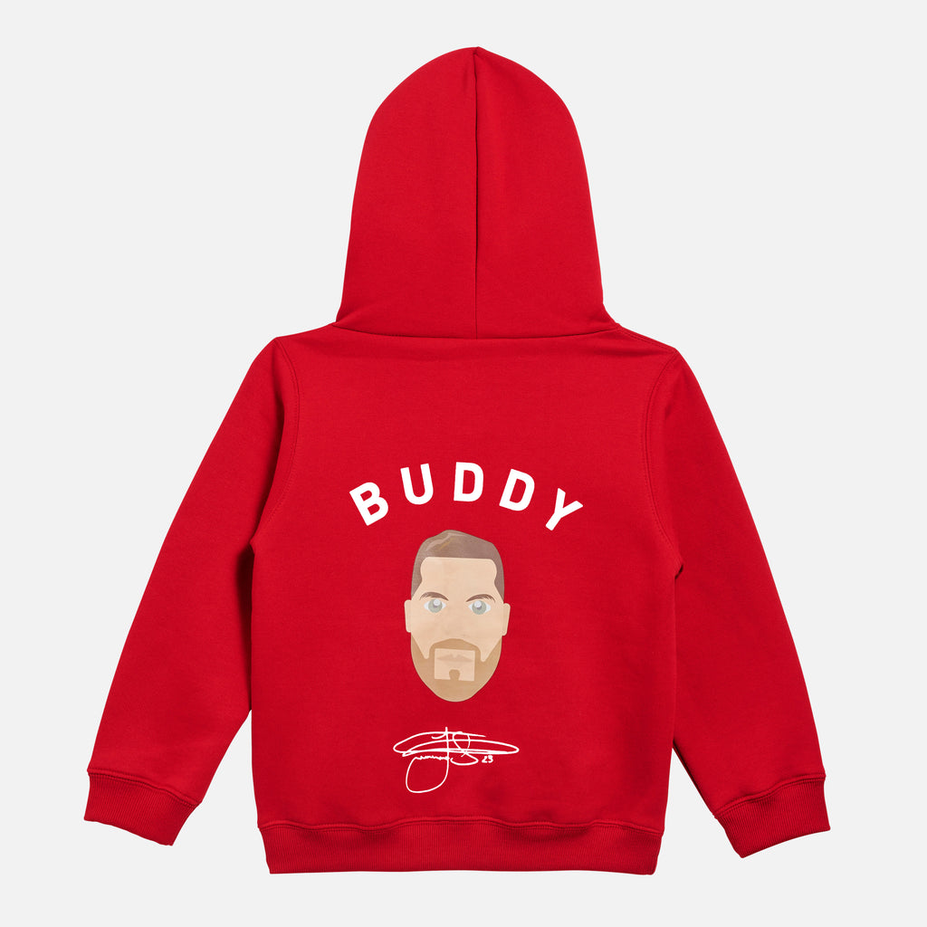 Buddy Franklin Children's Unisex Hoodie in Red