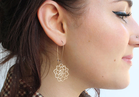 Succulent Earrings | Rose Gold
