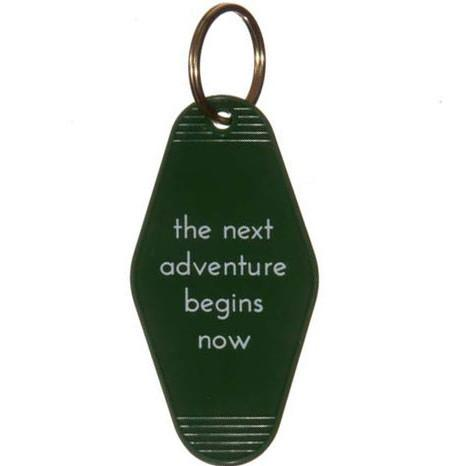 The Next Adventure Begins Now Motel Key Tag