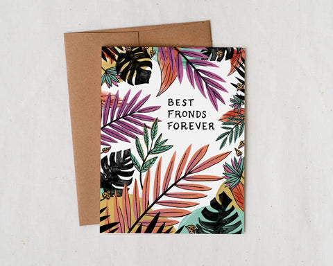 Best Fronds Forever Greeting Card