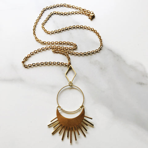 Brass Sol Necklace