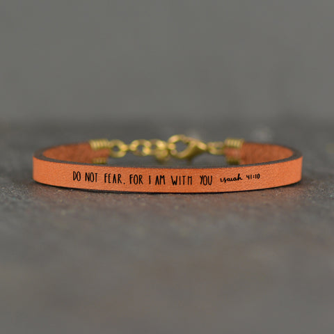 Do Not Fear, For I Am With You Religious Bracelet