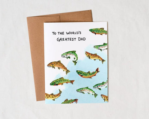 World's Greatest Dad Greeting Card