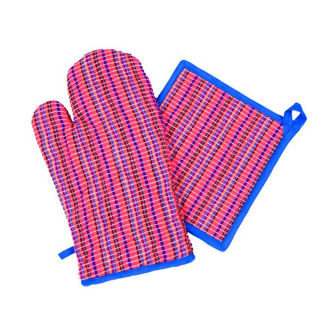 Pink Oven Mitts & Pot Holder