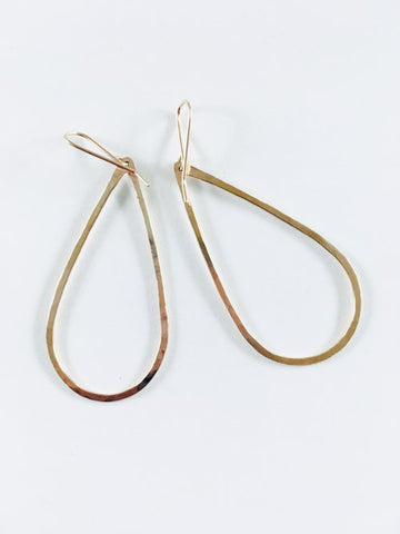 Pear Earrings - Gold Filled