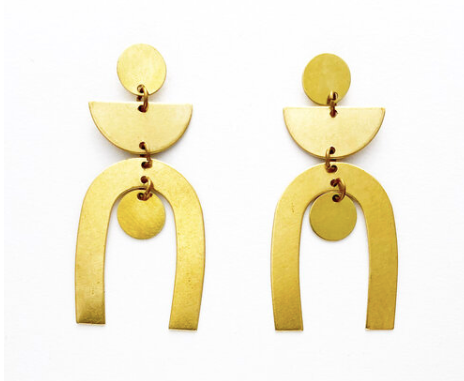 Brass Dangle Earrings No. 8