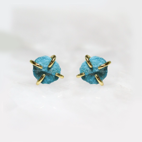 Turquoise - Gemstone Prong Earring