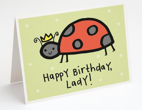 """Happy Birthday, Lady"" - Birthday Card"