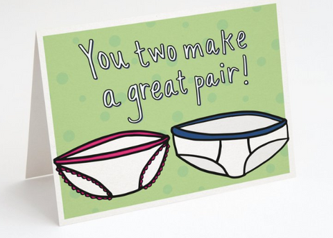 """Great Pair - Man & Woman"" - Engagement, Wedding & Shower Card"